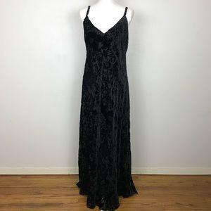 Johnny Was Nina Floral Burnout Velvet Maxi Dress
